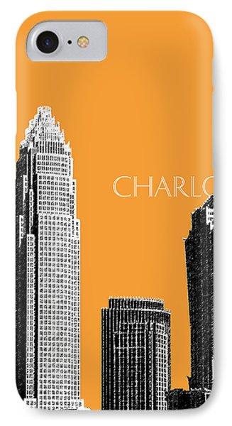 Charlotte Skyline 2 - Orange IPhone Case by DB Artist