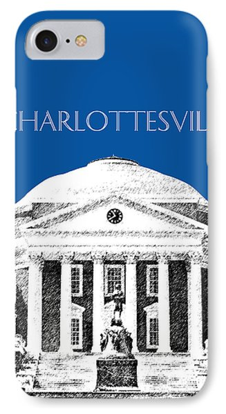 Charlottesville Va Skyline University Of Virginia - Royal Blue Phone Case by DB Artist
