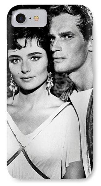 Charlton Heston And Marina Berti IPhone Case by Mountain Dreams