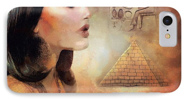 IPhone Case featuring the painting Charm Of Egypt by Wayne Pascall