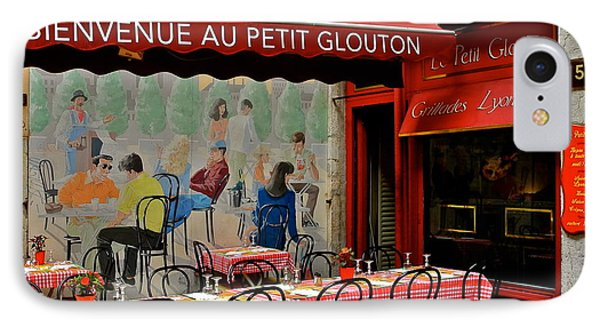 Charming French Outdoor Cafe IPhone Case by Kirsten Giving