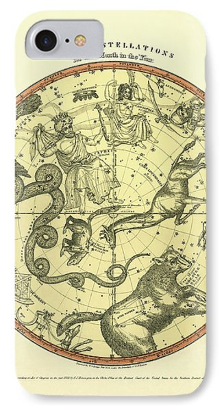 Chart Of The Constellations Phone Case by Underwood Archives
