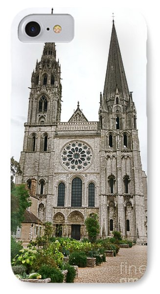 Chartres Cathedral And Esplanade IPhone Case by Olivier Le Queinec