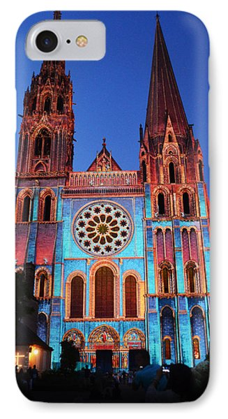 Chartres Cathedral With Colors IPhone Case by RicardMN Photography