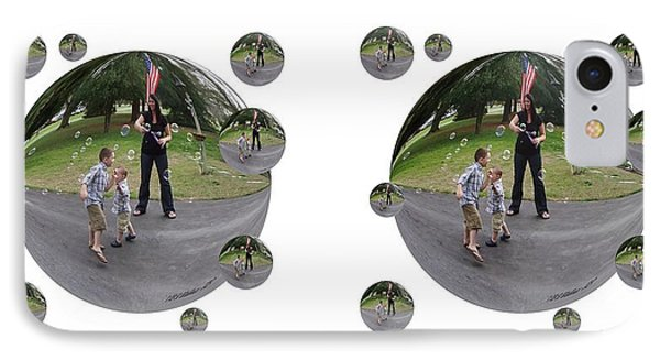 Chasing Bubbles - Cross Your Eyes And Focus On The Middle Image That Appears Phone Case by Brian Wallace