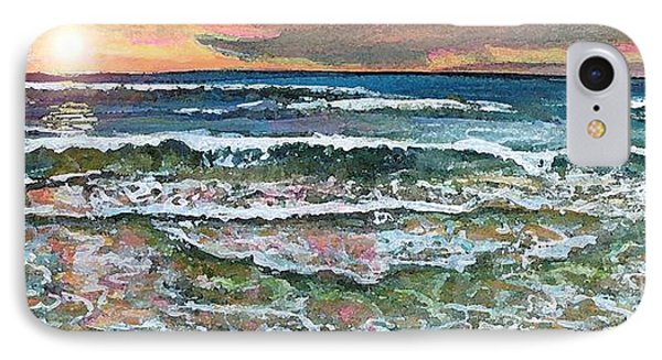 IPhone Case featuring the painting Chasing Chatham Beach Sunsets by Rita Brown