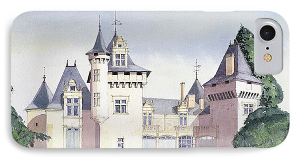 Chateau A Fontaine IPhone Case by David Herbert
