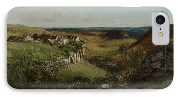 Chateau Dornans Phone Case by Gustave Courbet