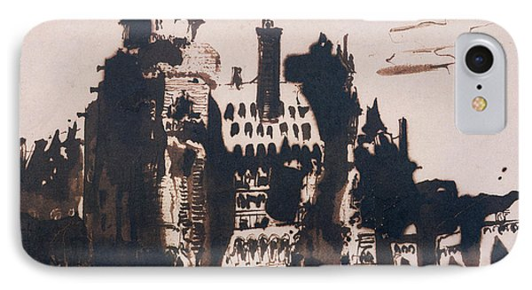 Chateau Fortified By Two Bridges Phone Case by Victor Hugo