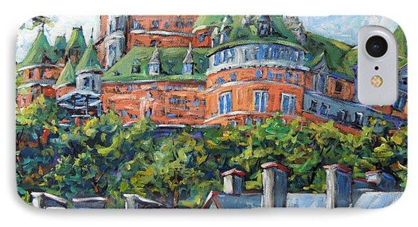 Chateau Frontenac By Prankearts Phone Case by Richard T Pranke