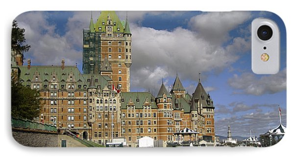 Chateau Frontenac Quebec City IPhone Case by Nicky Jameson