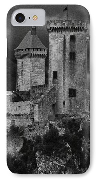 Chateau Tower Monochrome IPhone Case by John Topman