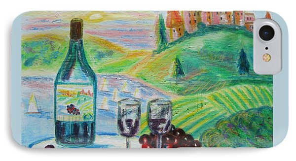 Chateau Wine IPhone Case by Diane Pape