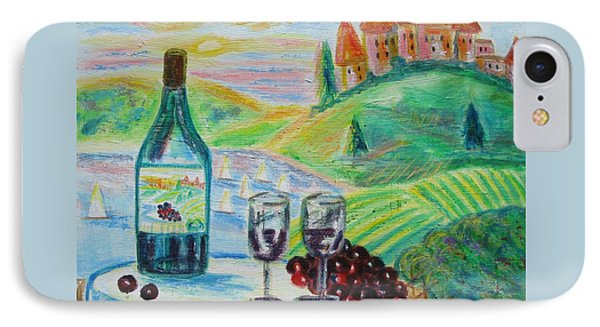 Chateau Wine Phone Case by Diane Pape