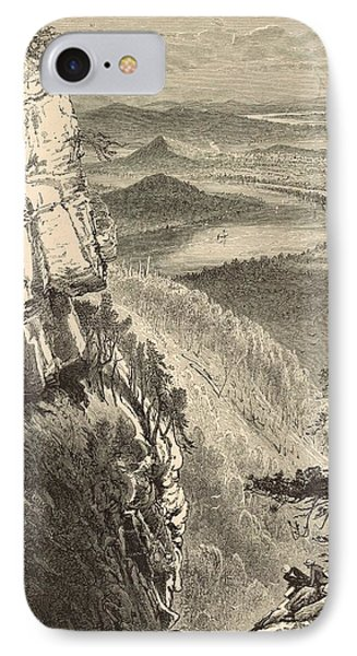 Chattanooga And The Tennessee From Lookout Mountain Phone Case by Antique Engravings