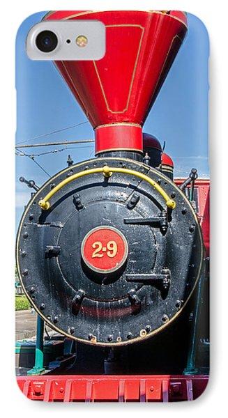 Chattanooga Choo Choo Steam Engine IPhone Case by Susan  McMenamin