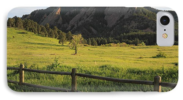 Chautauqua Park And Flatirons IPhone Case