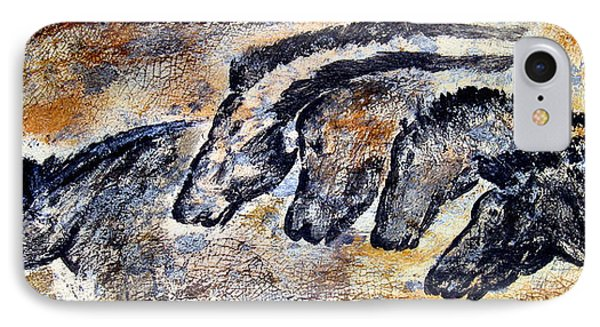 Chauvet Cave Auroch And Horses IPhone Case by Beverly  Koski