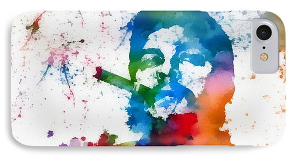 Che Guevara Paint Splatter IPhone Case by Dan Sproul