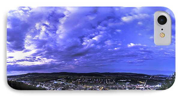 Checiny Town Blue Hour Panorama IPhone Case by Julis Simo