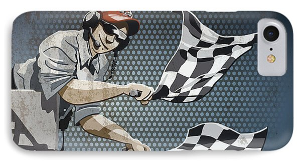 Checkered Flag Grunge Color IPhone Case