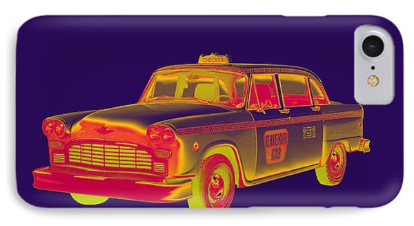 Checkered Taxi Cab Pop Art IPhone Case by Keith Webber Jr