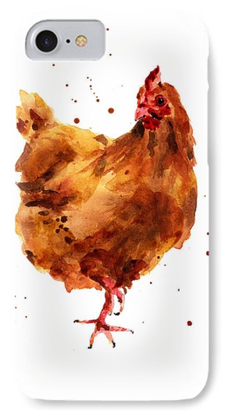 Cheeky Chicken IPhone 7 Case by Alison Fennell