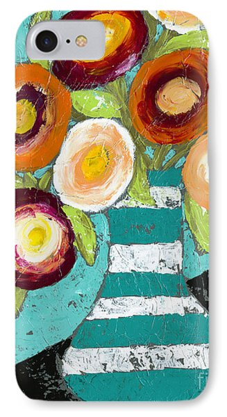 Cheerful Blooms IPhone Case by Kirsten Reed