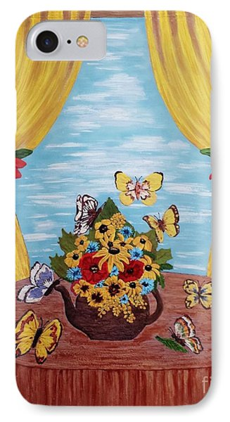 IPhone Case featuring the painting Cheerful Butterflies by Jasna Gopic