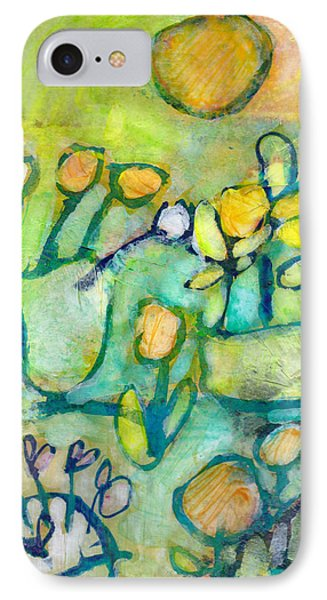 IPhone Case featuring the mixed media Cheerful Garden by Catherine Redmayne
