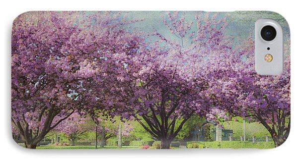 Cheery Cherry Trees - Nostalgic IPhone Case by Karen Stephenson