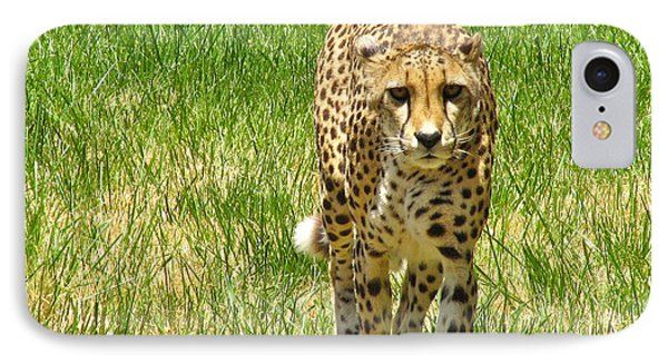 Cheetah Approaching IPhone Case by CML Brown