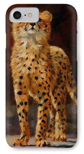 Cheetah Cub IPhone Case by David Stribbling