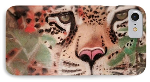Cheetah In The Grass IPhone Case by Renee Michelle Wenker