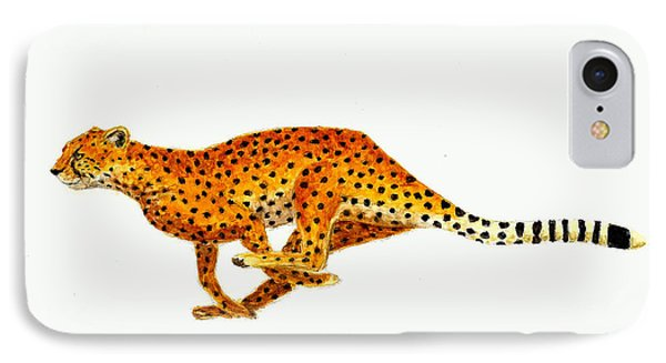 Cheetah IPhone 7 Case by Michael Vigliotti