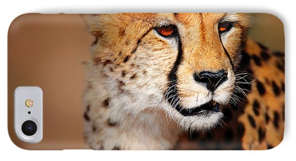 Cheetah Portrait IPhone 7 Case by Johan Swanepoel