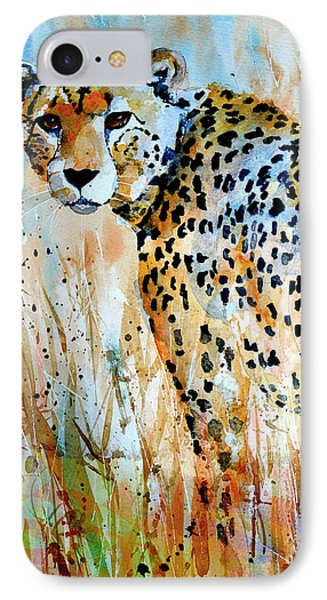 IPhone Case featuring the painting Cheetah by Steven Ponsford