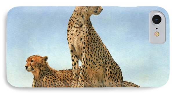 Cheetahs IPhone 7 Case by David Stribbling