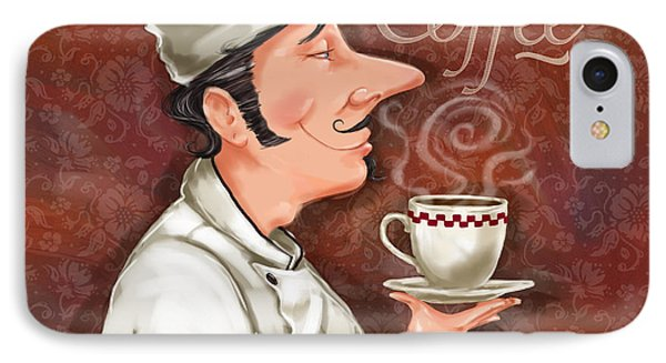 Chef Smell The Coffee Phone Case by Shari Warren