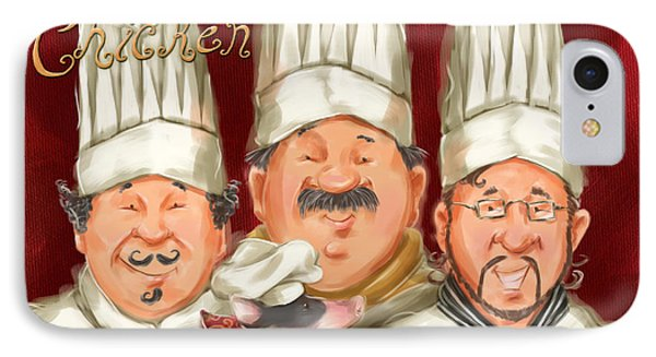 Chefs Say Eat Chicken Phone Case by Shari Warren