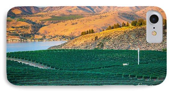 Chelan Vineyard Sunset IPhone Case
