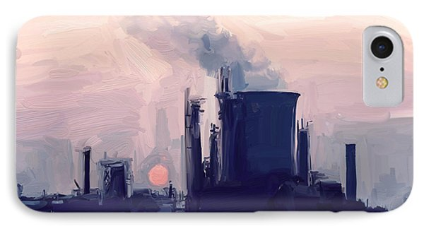 IPhone Case featuring the painting Chemical Sunset by Nop Briex