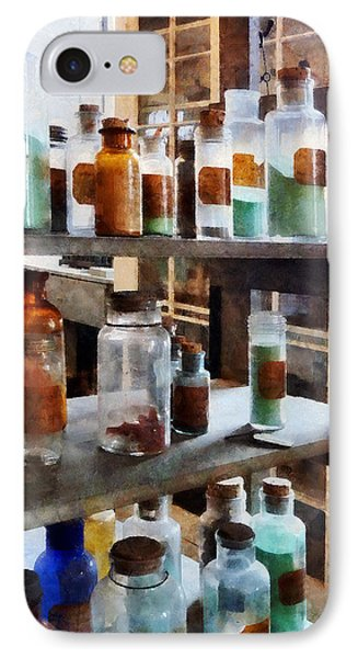 Chemistry - Bottles Of Chemicals Phone Case by Susan Savad