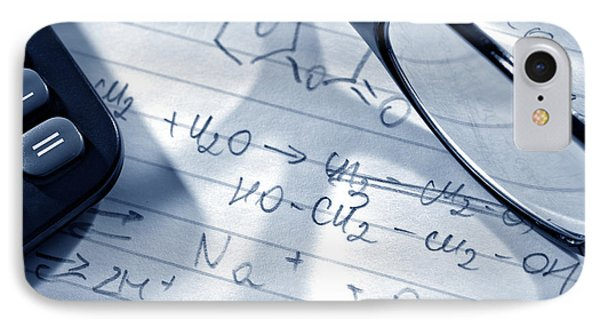 Chemistry Formulas IPhone Case by Olivier Le Queinec