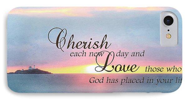 Cherish Love IPhone Case by Lori Deiter