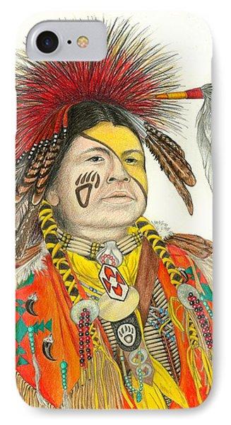 Cherokee In Orange Phone Case by Lew Davis