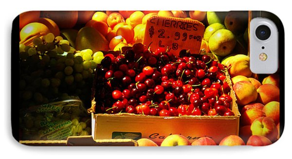 IPhone Case featuring the photograph Cherries 299 A Pound by Miriam Danar