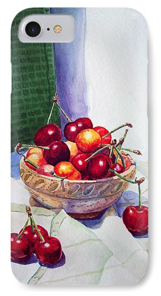 Cherries IPhone Case by Irina Sztukowski