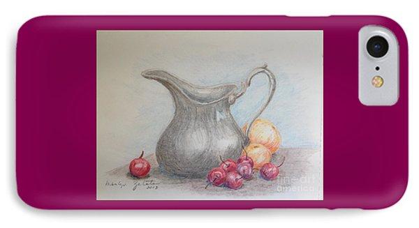 Cherries Still Life IPhone Case by Marilyn Zalatan