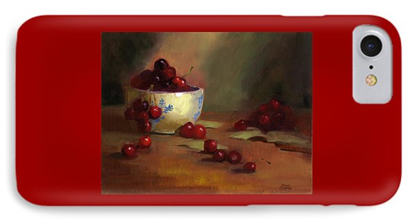 IPhone Case featuring the painting Cherries by Susan Thomas